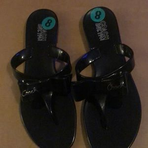 New Black Coach Sandals /Slippers